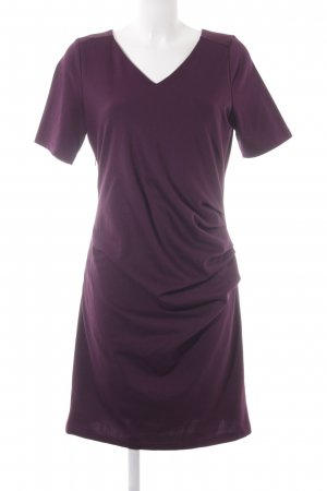 Kaffe A-Linien Kleid brombeerrot Business-Look