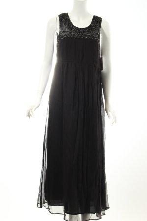 Kaffe Abendkleid schwarz Eleganz-Look