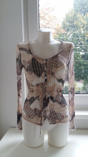 Kaffe Transparante blouse veelkleurig