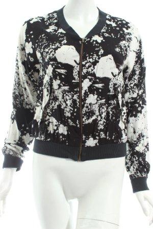 Kaffe Blouson schwarz-weiß florales Muster Street-Fashion-Look