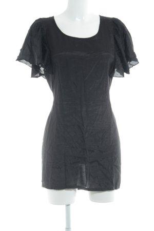 Kaffe Blusenkleid schwarz Schimmer-Optik