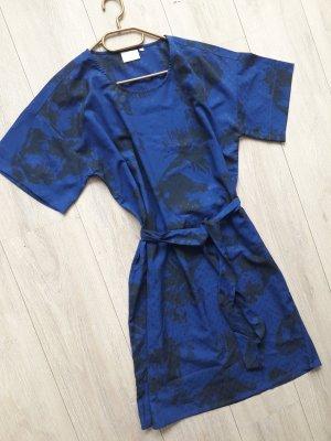 KAFFE Dansk Designerkleid Blau mit Gürtel Dänemark mit