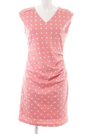 Kaffe Etuikleid rosa-wollweiß Punktemuster Elegant
