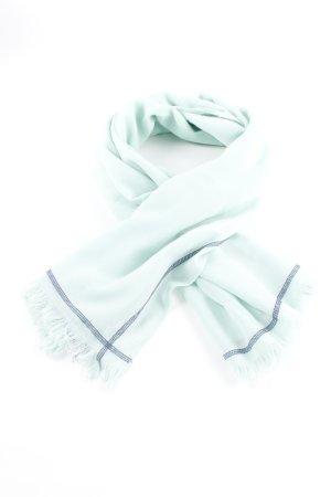 Kaffe Sjaal met franjes lichtgroen-donkerblauw casual uitstraling