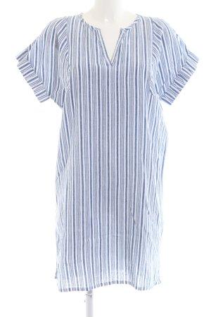 Kaffe Abito blusa camicia blu-bianco motivo a righe stile casual