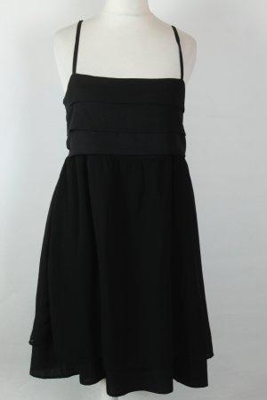 Kaffe Kleid Trägerkleid Gr. 40 schwarz