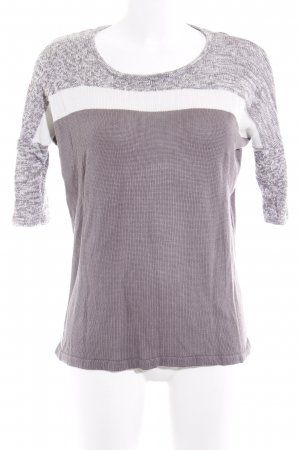 Kaffe Short Sleeve Sweater grey-white flecked casual look
