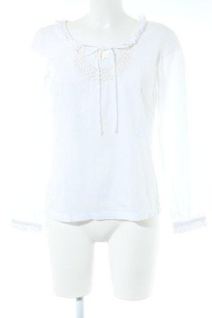 Kaffe Langarm-Bluse weiß Elegant