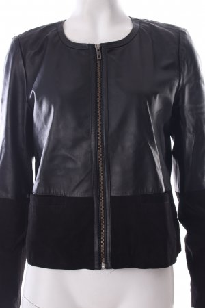 "Kaffe Lederjacke ""Amelia Leather Jacket"" schwarz"