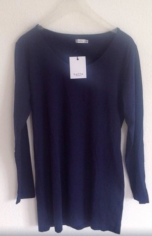 Kaffe Longshirt Shirt Navy Dunkelblau Shirt Neu xxl xl 38 40 42 44 Tunika Bluse