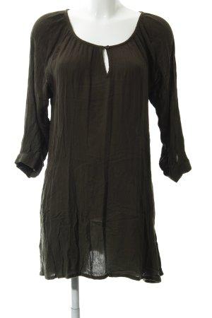 Kaffe Oversized blouse khaki gestreept patroon Boho uitstraling