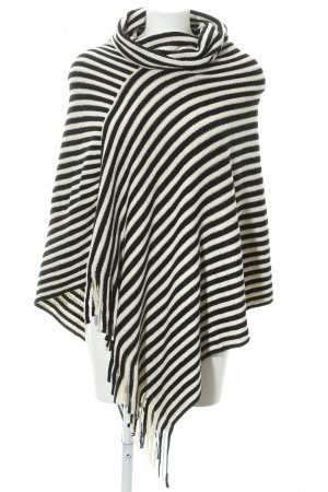 Kaffe Poncho black-natural white mixed pattern casual look