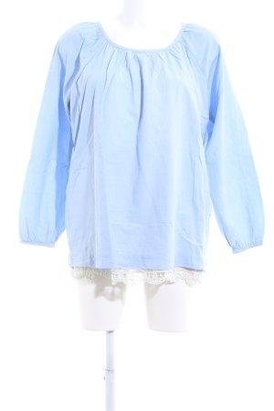 Kaffe Slip-over blouse blauw casual uitstraling