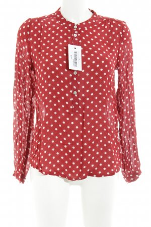 Kaffe Slip-over Blouse dark red-natural white spot pattern casual look