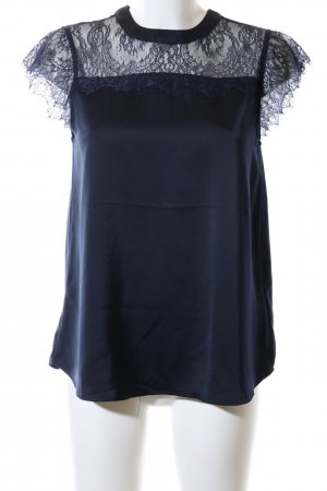 Kaffe Lace Blouse blue casual look