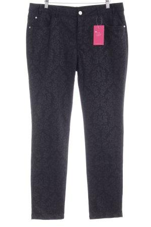 Kaffe Straight-Leg Jeans schwarz-anthrazit florales Muster Elegant
