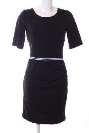 Kaffe Stretchkleid schwarz-weiß Streifenmuster Business-Look