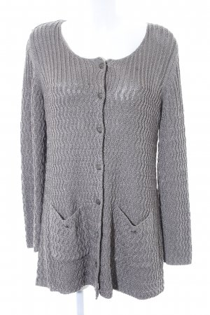 Kaffe Strick Cardigan grau Casual-Look
