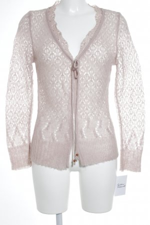 Kaffe Strickjacke rosa Romantik-Look