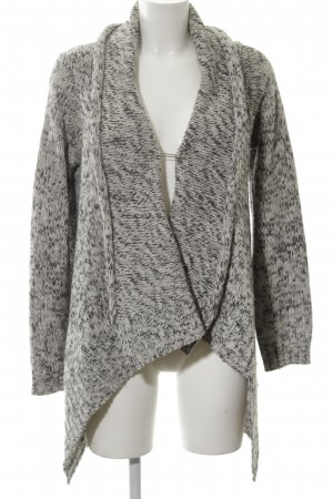 Kaffe Knitted Wrap Cardigan white-light grey flecked casual look