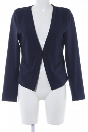 Kaffe Sweatblazer dunkelblau Business-Look