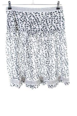 Kaffe Circle Skirt light grey-white allover print casual look