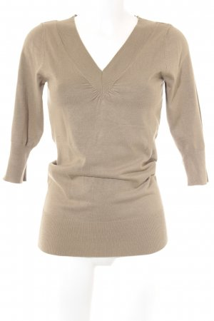 Kaffe V-Neck Sweater green grey casual look