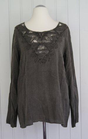 KAFFE Vibha Tunika-Bluse, grau (gunmetal), Gr. 42