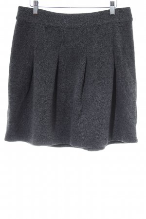 Kaffe Gonna di lana grigio chiaro-antracite motivo a zig-zag elegante
