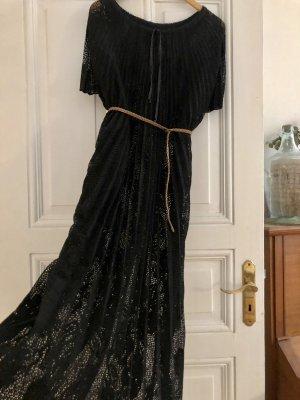 Kaftan Kleid Spitze bodenlang 38 40 M-L