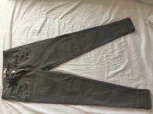 Zara Trafaluc Pantalone a vita bassa grigio-verde