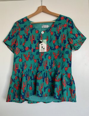 Flounce Top multicolored polyester