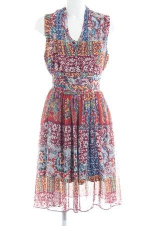 Kala Berlin Vestido de chifón estampado con diseño abstracto look casual