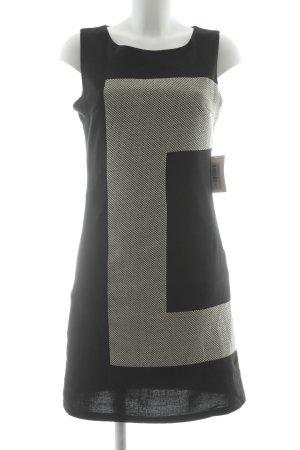 Kala Bleistiftkleid schwarz-wollweiß grafisches Muster Elegant