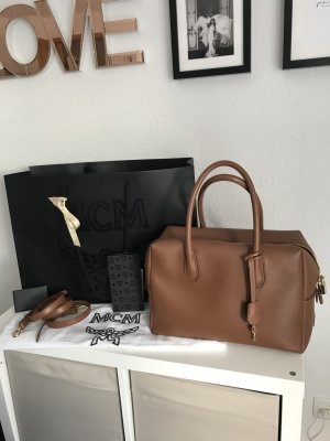 MCM Handbag cognac-coloured-gold-colored