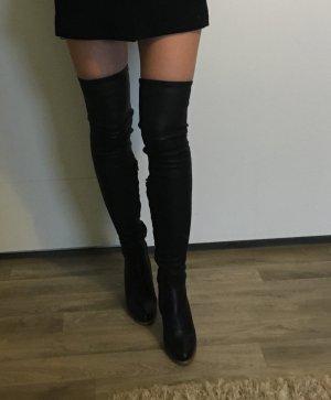 Kalbsleder Overknee-Stiefel