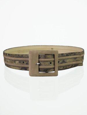 Kalbsleder Vintage Gürtel mit Reptil-Optik