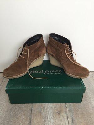 Kalbvelour Coffee / Stiefelette Paul Green