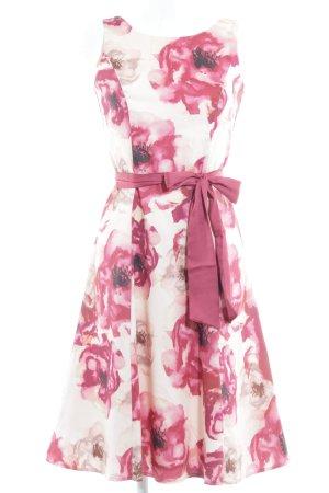 Kaliko A-Linien Kleid Blumenmuster Elegant