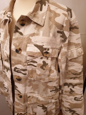 Bershka Chaqueta militar multicolor Algodón
