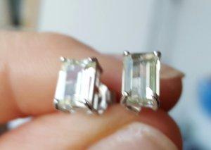 Ear stud silver-colored-primrose real silver
