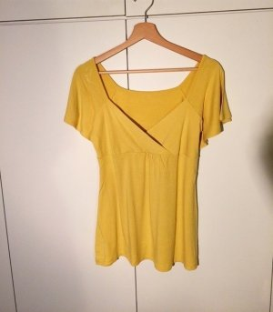 Top taille empire jaune