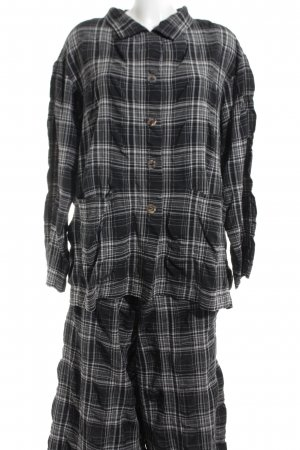Kandis&Kandismann Woven Twin Set black-natural white check pattern casual look