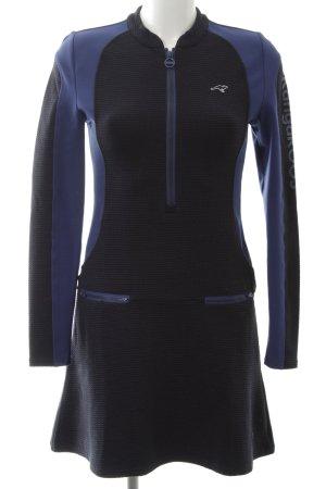Kangaroos A-Linien Kleid blau-schwarz Casual-Look