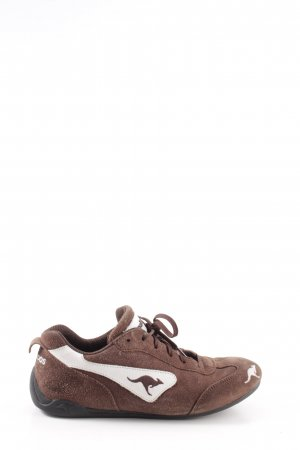 Kangaroos Schnürsneaker bronzefarben-weiß Motivdruck sportlicher Stil