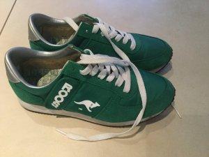 KangaROOS Sneaker Gr. 39 grün weiß Turnschuh Geheim-Tasche Klett-/Reißverschluss