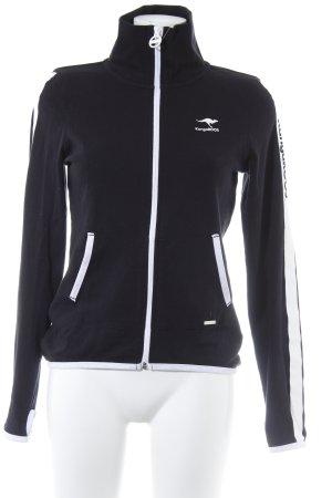 Kangaroos Sweatjacke schwarz-weiß sportlicher Stil
