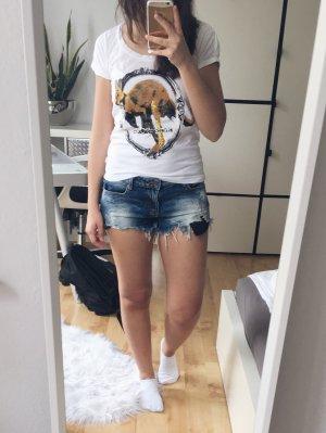 KangaROOS T-Shirt creme Kangaroo Print Gr. 34