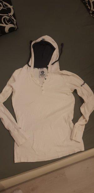 Kangaroos Camicia con cappuccio bianco sporco-blu scuro