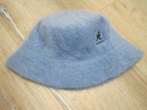 Kangol Cappello di lana azzurro Lana d'angora